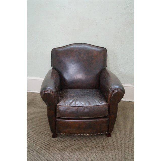 Distressed Leather Club Chair   Stühle   Pinterest   Club chairs