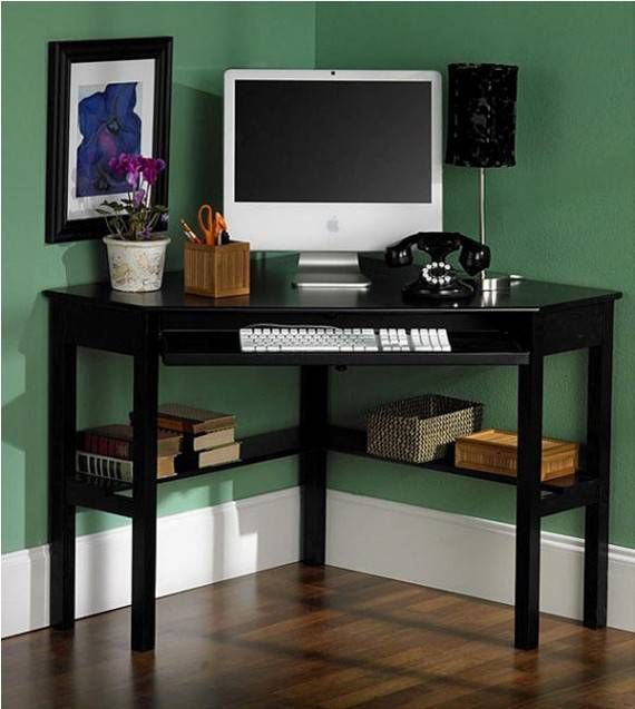 Corner Computer Desk for Small Home Office | Utility Room
