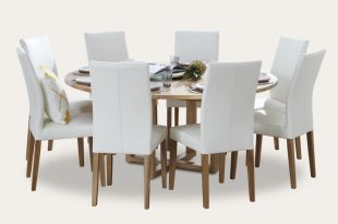 Kennedy round dining suite with Metz chairs - Focus on Furniture
