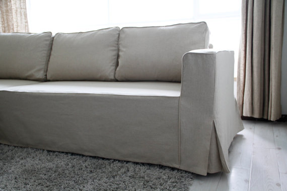 Custom IKEA Manstad Sofa Bed Cover (Loose Fit Style) in Liege