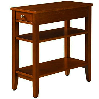 Amazon.com: Narrow End Table For Small Places With Drawer and 2
