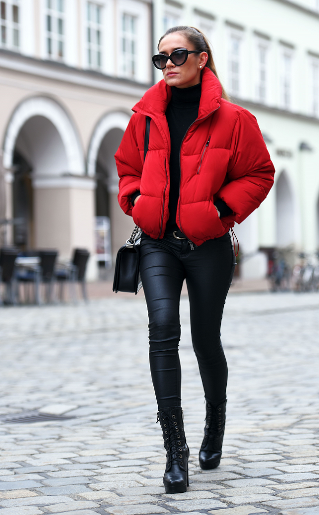 Bubble Jacket Outfit Ideen