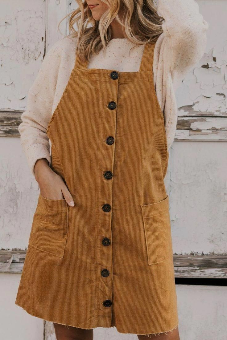 Cord Kleid Outfit Ideen
