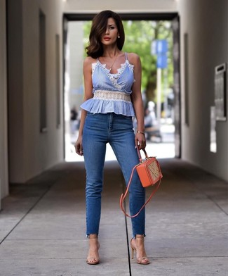 Hellblaue Bluse Outfit Ideen