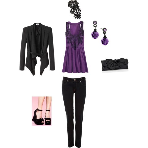 Lila und Schwarzes Outfit von Candis (FLFairy)    Lila Outfits, Pink.