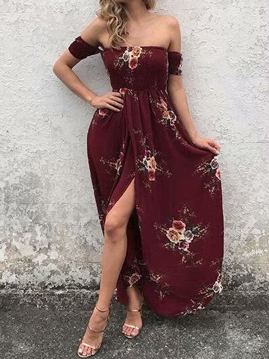 One Shoulder Maxi Dress Outfit Ideen