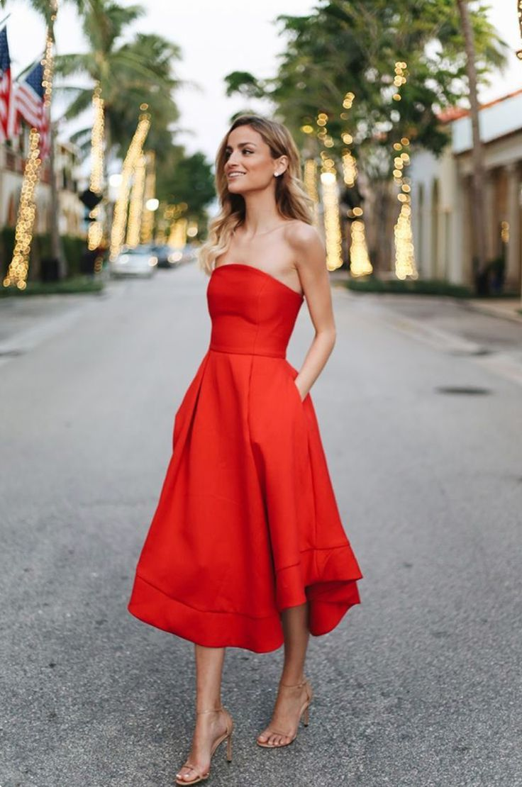 Rote Langarm Kleid Outfit Ideen